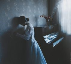 My Personal Silence by NataliaDrepina. Everything is withering in this for me - the flowers - the echoes of the music just played and of course her withering dying hope for love just lost or perhaps never attained