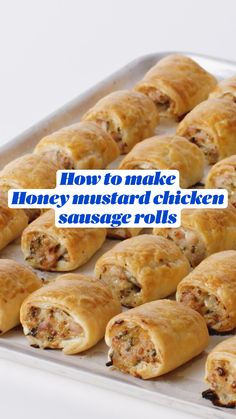 Sausage Recipes, Meat Recipes, Appetizer Recipes, Chicken Recipes, Fun Baking Recipes, Snack Recipes, Cooking Recipes, Chicken Sausage Rolls, Sausage Bread