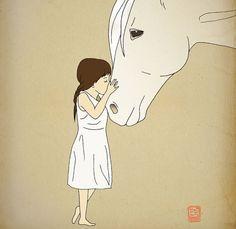 Horse Archival Art Print 12x16 nursery poster by LeniSomnia, $36.00