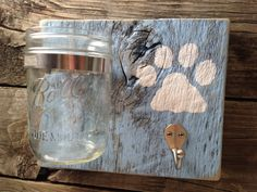 Rustic Pet Station/ PAWesome Leash and Treat by theDogPawCo