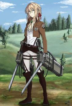 Fanarts Anime, Anime Chibi, Violet Evergarden Wallpaper, Violet Evergreen, Violet Evergarden Anime, Attack On Titan Art, Anime Crossover, Image Manga, Anime People