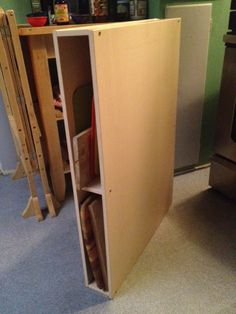 IKEA Hackers: GALANT chopping board storage unit. If I had any space between things this would so be happening.