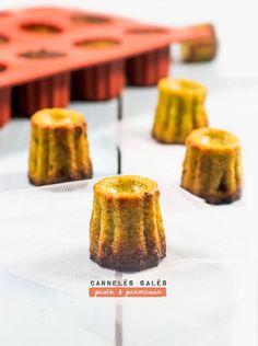 Cannelés salés pesto & parmesan sur cookeez.fr Vol Au Vent, Parmesan, Cute Food, Good Food, Minis, Buffet, Tapas Party, Dip Recipes, Tupperware