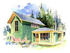 Perfect Little Houses, The Willow. 540 sf footprint, 780 sf total