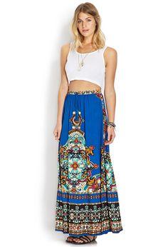 Well Traveled Maxi Skirt | FOREVER21 - 2000071755