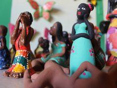 Ao longo dos anos os artesãos foram aprimorando as técnicas para trabalhar as cerâmicas (Foto: Patrícia Andrade/G1)