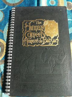 Balzac's The Human Comedy Blank Book by Merrittorious on Etsy, $12.00