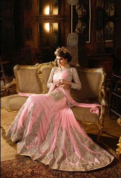Pink designer party wear lehengha