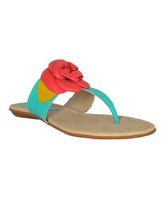 Loving this Ocean Floral Swirl Leather Sandal on #zulily! #zulilyfinds