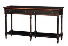 Blue Hand Home - Roosevelt Edwardian Sofa Table, Pricing:  $ 757 (http://www.bluehandhome.com/roosevelt-edwardian-sofa-table/)