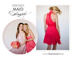 Make bridesmaid fashion choices simple by renting and returning gorgeous bridesmaid dress from Little Borrowed Dress!  http://www.stylemepretty.com/2013/04/12/little-borrowed-dress-3/