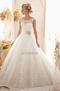 Ball Gown Off-the-shoulder Court Train Organza wedding dress - IZIDRESSES.com at IZIDRESSES.com