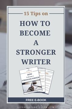Become a stronger writer and help your novel become a best seller.