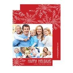 Send a holiday card friends and family will love. Personalize with your own text and photos, and for even more fun, consider adding a picture to the back too!