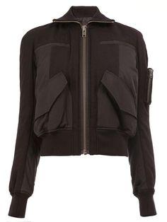 HAIDER ACKERMANN cropped bomber jacket. #haiderackermann #cloth #jacket