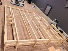 DIY Home Theater, Man Cave, Media Room #platform #risers