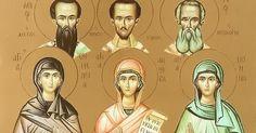 Saint Emmelia, Saint Anthousa & Saint Nonna, the Saint Mothers with their Saint Sons, the Three Hierarchs.