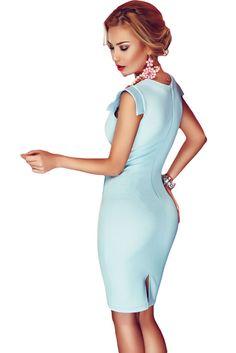 $17.49 Buy Cheap Baby Blue Button Detail Short Office Dress at Online Shop http://en.modebuy.com @modebuyshop #modebuyshop @modebuy #modebuy #AsShown  #out #cute #so #art #me #dress #followme
