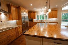 Wooden Center Island Counter Top/Builder Winchester VA/Custom Home Builder/Virginia