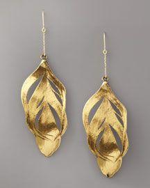 Swan Feather Earring