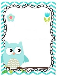 ️*.:。✿*✿✿.:。✿*✿.。.:*✿.✿・。.:* Binder Covers Free, School Border, Kindergarten Coloring Pages, Owl Theme Classroom, Boarders And Frames, Owl Wallpaper, Owl Clip Art, School Frame, Portfolio Covers