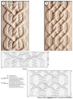knitting stitches wires stitches, sciegi na druty wzory, knit stitches patterns Cable Knitting Patterns, Knitting Stiches, Knitting Charts, Loom Knitting, Knitting Designs, Knit Patterns, Crochet Stitches, Stitch Patterns, Sewing Patterns