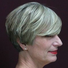 short gray hairstyle for mature women