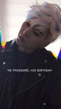 Suga, birthday password wallpaper