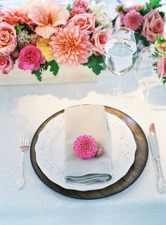 Saddle Rock Ranch Tented Anniversary Party in Malibu - Inspired By This- Summer flowers.