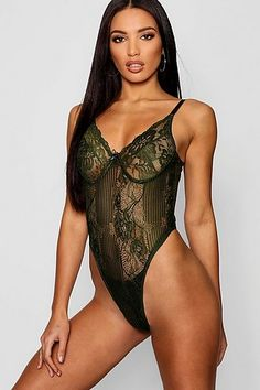 Womens Premium Lace one piece - green - L Lingerie Models, Women Lingerie, Sexy Lingerie, Lingerie Dress, Michelle Keegan, Night Outfits, Sexy Outfits, Khloe Kardashian Hair, Pullover Shirt