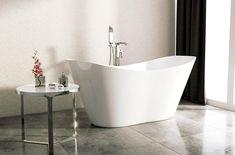 Wolnostojąca wanna Besco Viya z konglomeratu marmurowego. Diy Wall Art, Cool Diy, Bathtub, Cool Stuff, Bathroom, Decor, Standing Bath, Washroom, Bathtubs