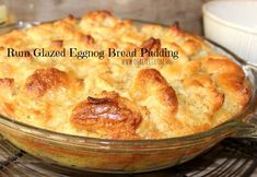 SO good! Eggnog Bread Pudding, Brioche Bread Pudding, Bread Puddings, Bread Recipes, Baking Recipes, Custard, Fall Recipes, Cravings, Sweet Tooth