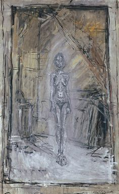 Alberto Giacometti - Nu debout dans l'atelier, huile sur toile, Vaduz, Mariann Steegmann Art Foundation, Kunstmuseum Liechtenstein Photo : A la Belle E-toile Alberto Giacometti, Art Sculpture, Sculptures, Giacometti Paintings, Art Paintings, Figure Painting, Painting & Drawing, Modern Art, Contemporary Art