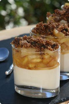 ^^Verrines de pommes caramélisées, crème au whisky^^