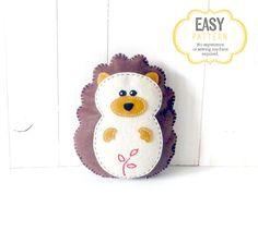 Hedgehog Sewing Pattern Felt Hedgehog Plush by LittleSoftieShoppe