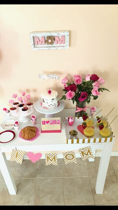 Decorations Birthday Table Mom Royal Tea Parties Mothers Day Brunch Cake