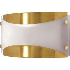 Castillo 15.07-In W 1-Light Brushed Brass Pocket Hardwired Wall Sconce