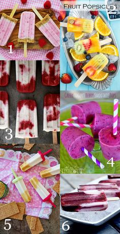6 Summer Popsicles to make at home - My Little Gourmet