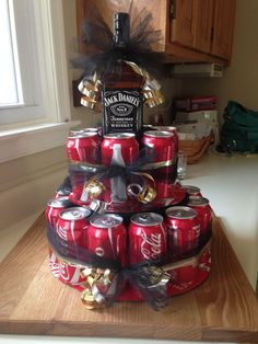 Jack & coke birthday cake # Jack & coke birthday cake # Best Picture For simple birthday cake For Your Taste You are looking for something, and it is goin Diy Birthday Cake, Birthday Cakes For Men, 21st Birthday Gifts, Cake For Husband, Gifts For Husband, Regalos Jack Daniels, Coke Cake, Cake In A Can, Gift Baskets
