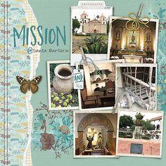 Mission @ Santa Barbara #patterningpalettesno.3 #designerdigitals#digitalscrapbookpages