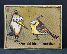 WT536 Old Birds by hobbydujour - Cards and Paper Crafts at Splitcoaststampers