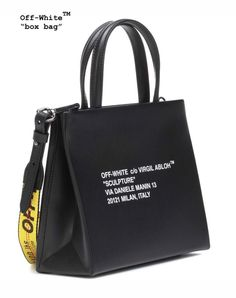 Bags & Accessories: Affordable Fashion: OFF-WHITE Style by BagVogue - Men's style, accessories, mens fashion trends 2020 Tote Handbags, Cross Body Handbags, Purses And Handbags, Off White Bag, Bag Clips, Basket Bag, Everyday Bag, Luxury Bags, Fashion Bags