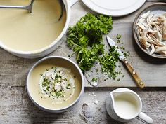 Transform your Sunday roast leftovers into this deliciously delicate cream of chicken soup to enjoy for supper for the week ahead.