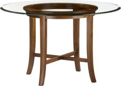 """Halo Cognac Dining Table with 48"""" Glass Top in Dining Tables 