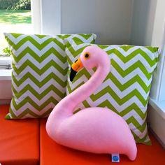Flamingo pillow. Light pink felt flamingo by cupcakecutie1 on Etsy