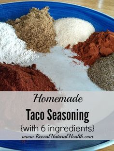 As much as we use taco seasoning, I'm glad I learned to make my own. This version is so much healthier than store bought and only needs 6 ingredients.