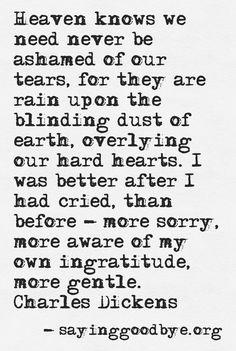 Tears/Loss Charles Dickens