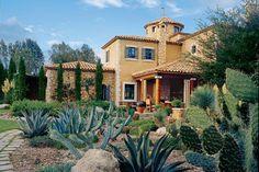 San Miguel de Allende, Mexico - Mediterranean-inspired home of interior designer Linda Warren Simon...