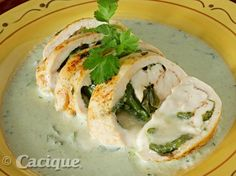 Chile Cheese Stuffed Chicken Breasts with Crema Mexicana Sauce | Mexican Cheese | Cacique Inc. | Authentic Mexican Cheese