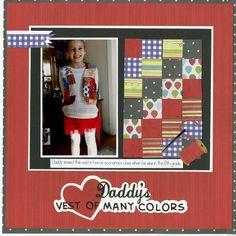 DADDYS VEST OF MANY COLORS - Scrapbook.com